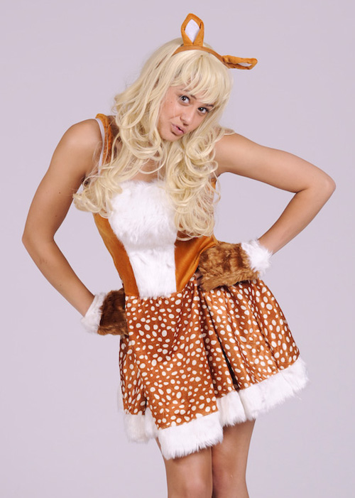 Adult Womens Bambi Style Deer Costume