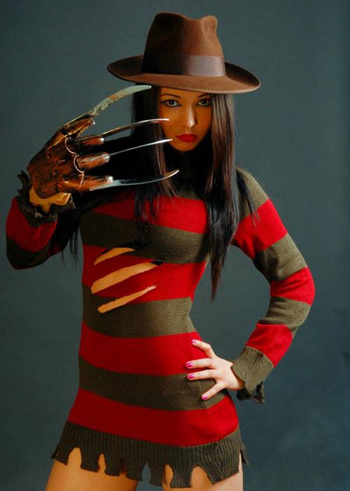 Womens Halloween Miss Freddy Krueger Costume Ladies Sexy ...