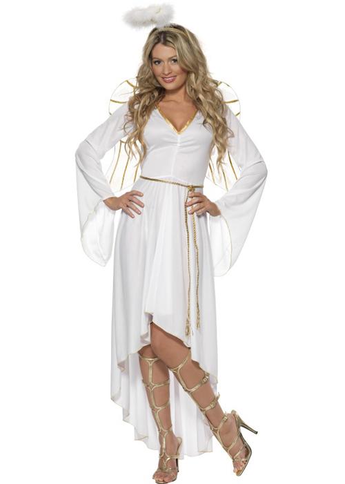 Ladies White Christmas Angel Costume ladies white ...
