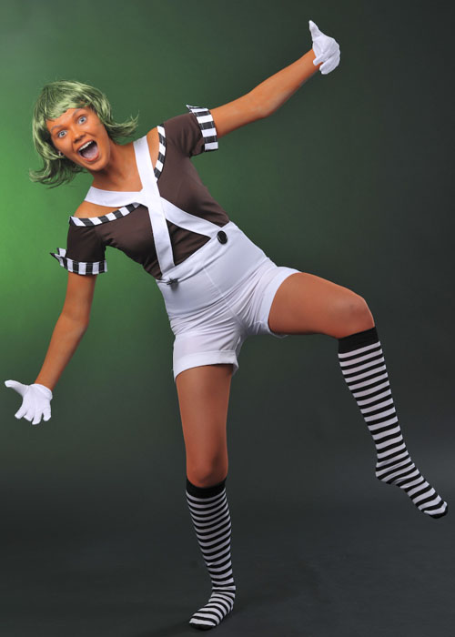 Ladies oompa loompa factory worker costume 3705 struts party