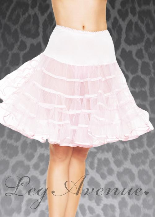 Leg Avenue White Knee Length Underskirt Leg Avenue White