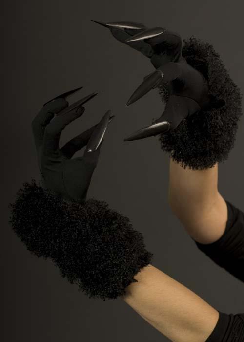 Ladies Long Black Cat Gloves Ladies Long Black Cat Gloves