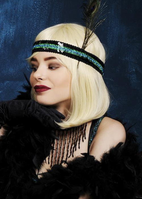 Ladies Deluxe 20s Blonde Bob Elise Wig
