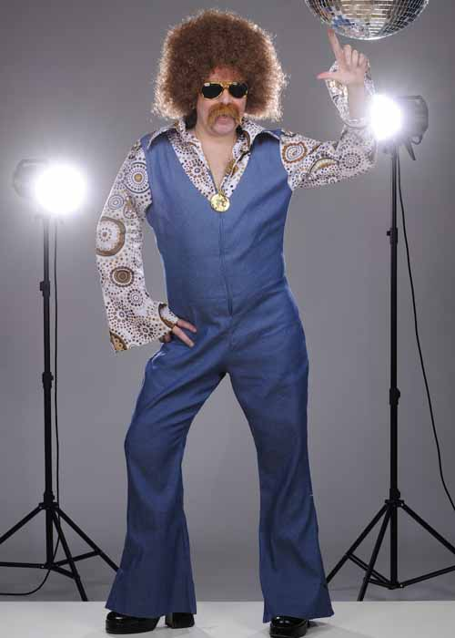 Mens 1970s Disco Groovy Dancer Costume 70