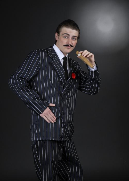 Mens Halloween Gomez Addams Style Costume Adult Gomez ...