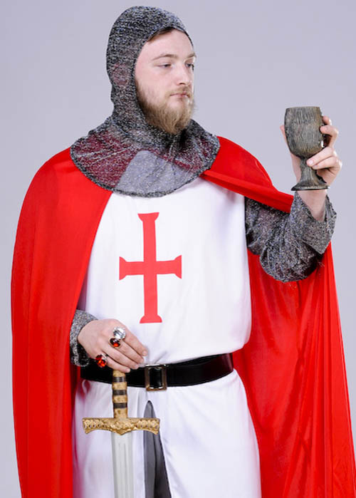 Adult Medieval Templar Knight Costume
