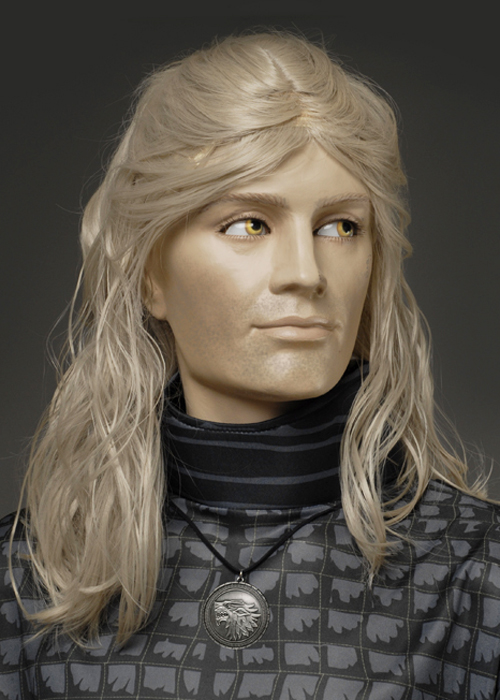 Mens The Witcher Style Blonde Geralt Wig