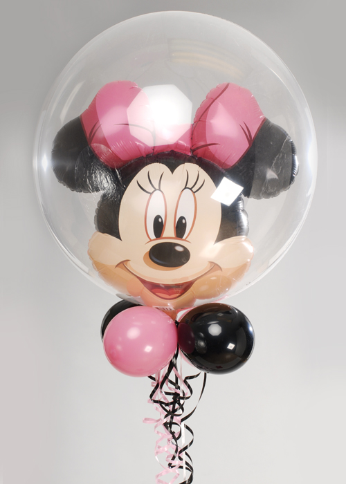 Minnie Mouse Double Bubble With Balloon Collar And Base