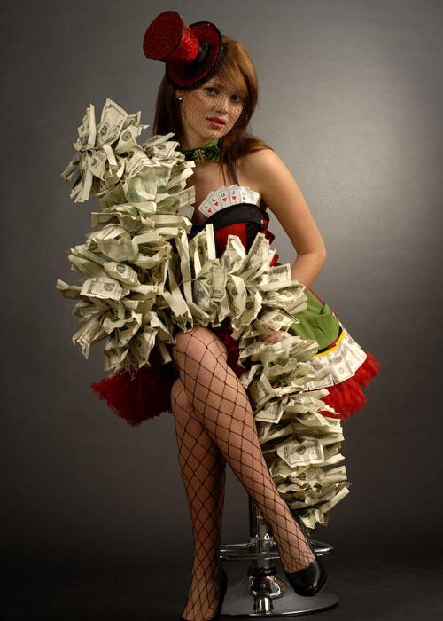 Fancy Dress Casino Money Boa