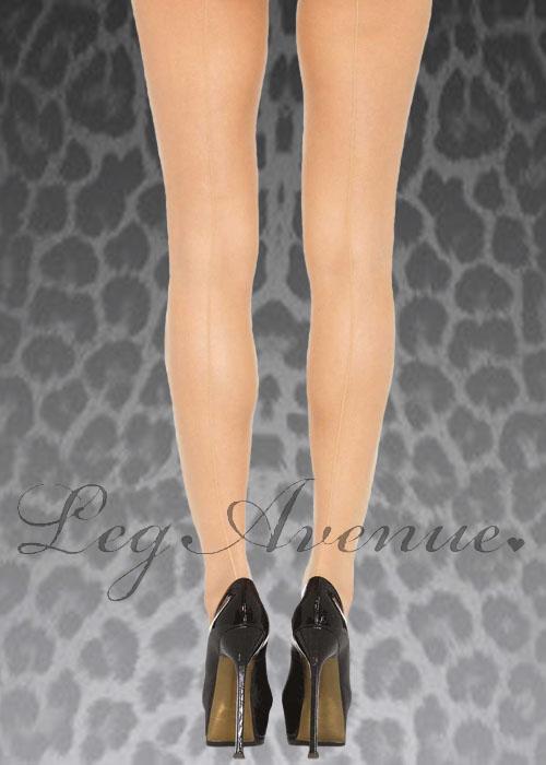 Ladies 1940s Nude Sheer Seamed Stockings