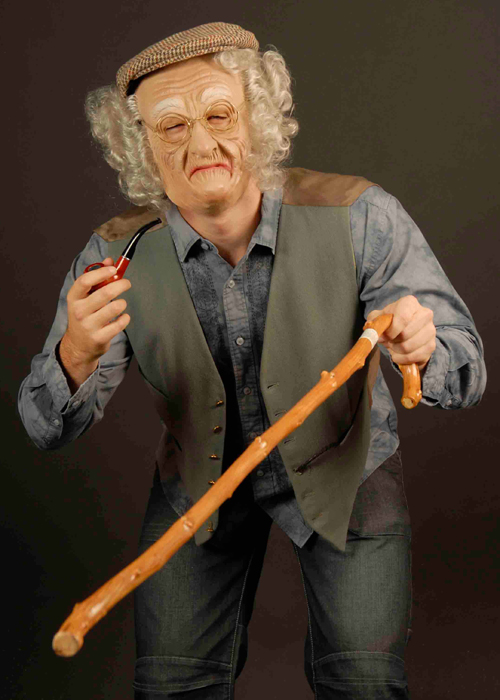 Old Man Walking Cane 1638b Struts Party Superstore