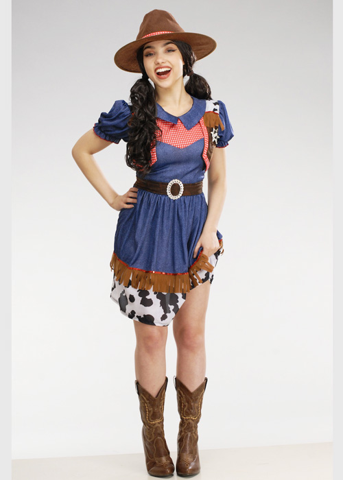 Womens Petite Western Cowgirl Costume