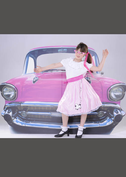 Large Pink 50 S Car Life Sized Cut Out