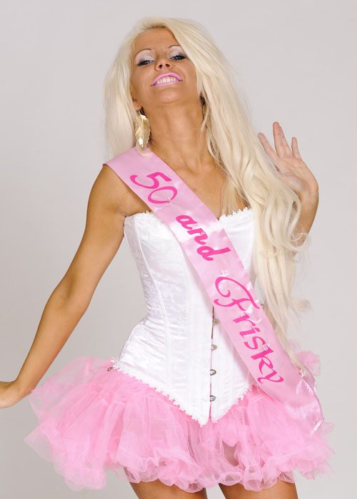 Pink 50th Birthday Sash