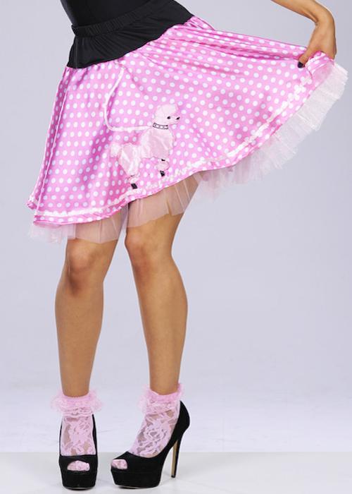 womens pink 50s rock n roll skirt