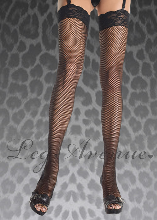 fe8aab32a Plus Size Leg Avenue Black Fishnet Stockings