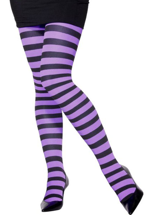 9371fea2ef9 Womens Plus Size Gothic Purple Striped Tights