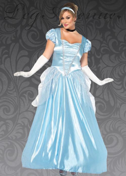 Adult Plus Size Classic Cinderella Princess Costume