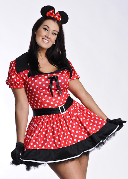 size minnie mouse girl costume