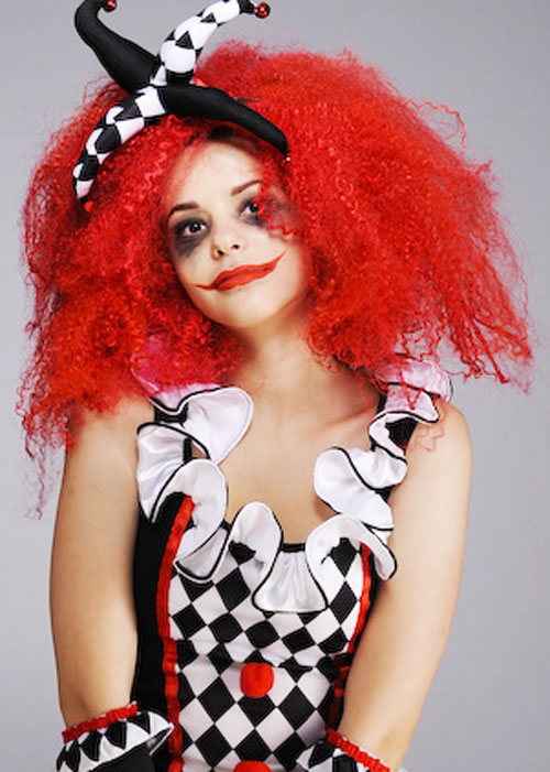 Womens Halloween Gothic Red Crimped Wig 91ae345f24