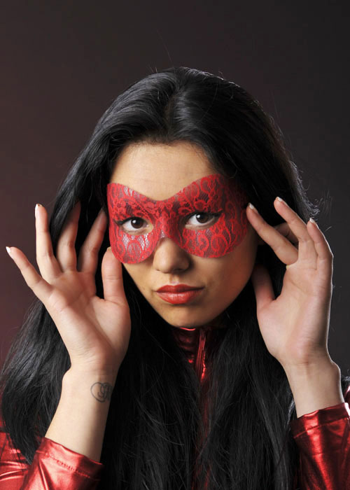 Latex domino mask