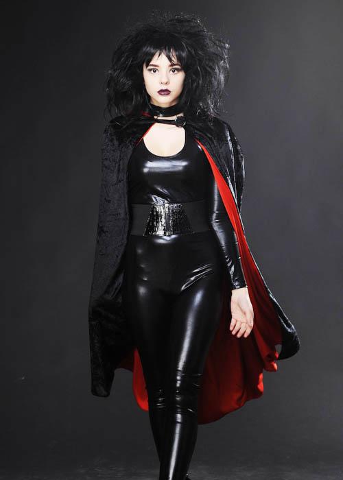 Black Velvet And Red Gothic Vampire Cape Black Velvet And