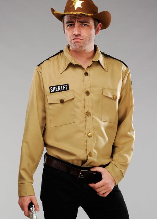 5c5eab2923b Mens Walking Dead Rick Style Sheriff Shirt