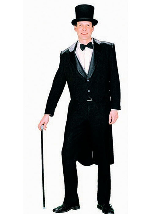 Black tailcoat fancy dress