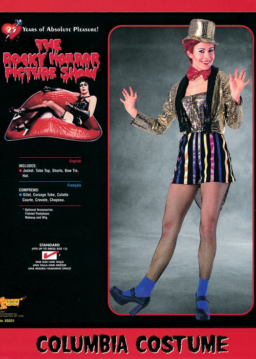 Rocky Horror Picture Show Columbia Costume Rocky Horror Picture Show