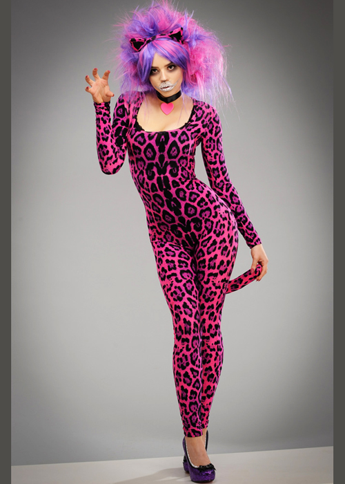 Womens Wonderland Cheshire Cat Style Costume DOES NOT INCLUDE WIG