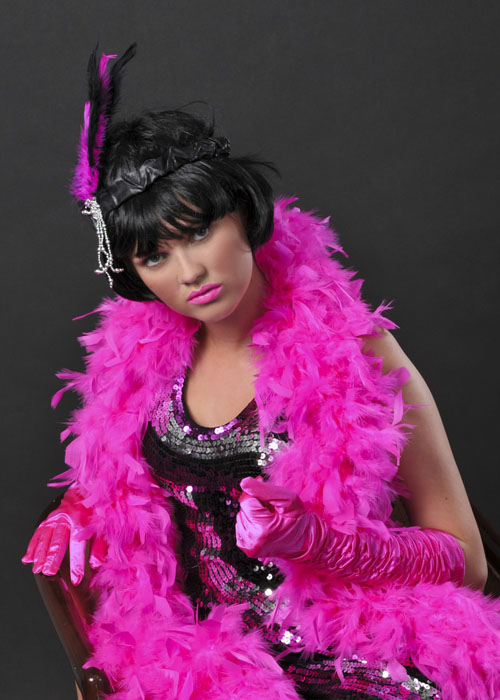 Flapper Girl Deluxe Shocking Pink Feather Boa 38308