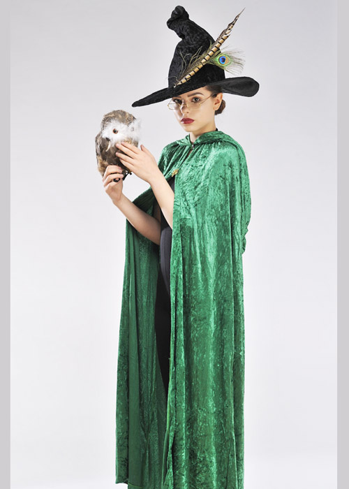 adult mcgonagall style witch costume kit