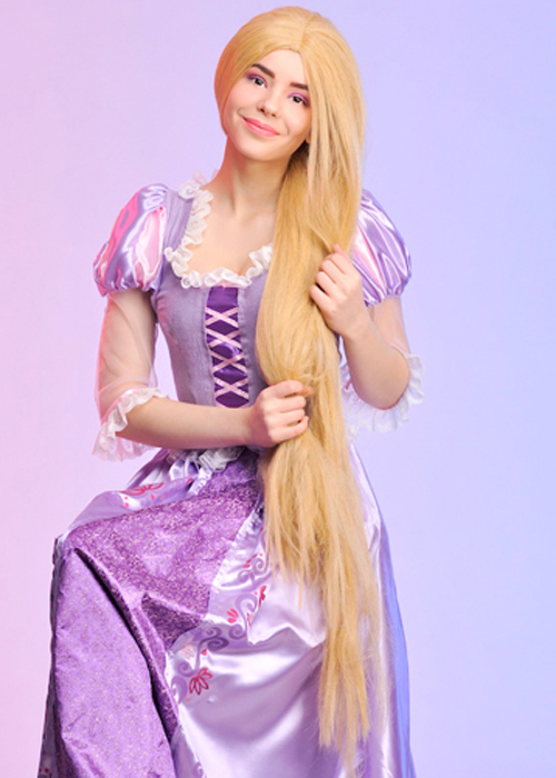 Ladies Extra Long Blonde Rapunzel Fancy Dress Wig | eBay