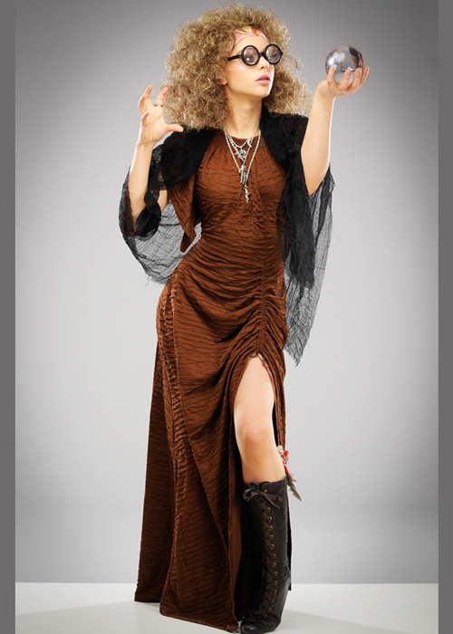 Sybill Trelawney Style Divination Teacher Costume With Wig