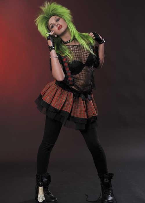 TUTU Red Tartan Kilt Punk Gothic Skirt Children 80s Fancy Dress Party Dance Kid