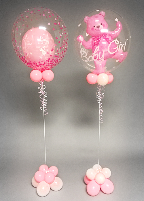 Pink Baby Girl Deco Bubble Balloon