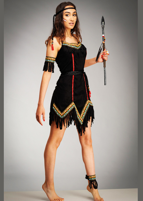 sc 1 st  Struts Fancy Dress & Womens Tiger Lily Black Native Indian Costume