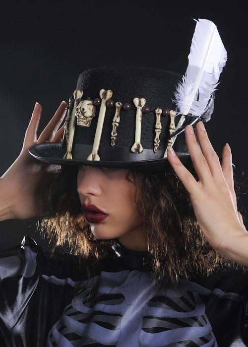 Halloween Voodoo Witch Doctor Top Hat
