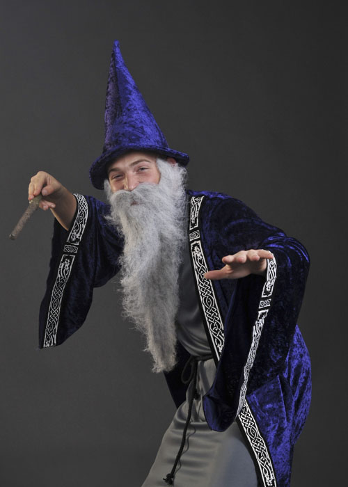 Adult Medieval Wizard Merlin Fancy Dress Costume