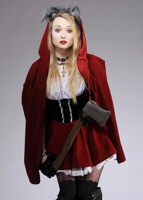red riding hood costume with wolf ears