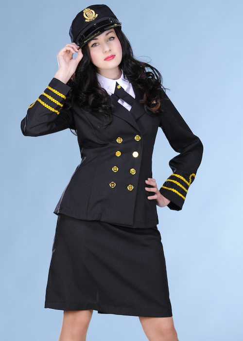 Ladies 40s Navy Officer Costume Ladies 40s Navy Officer