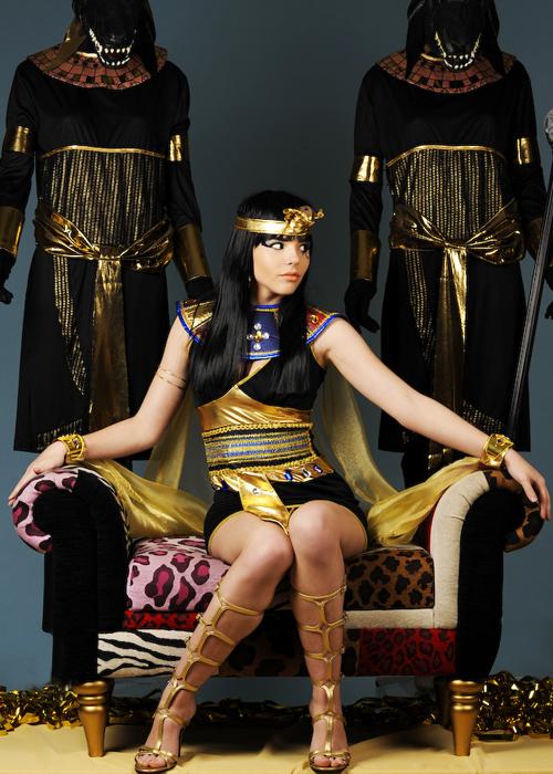 Womens Black Cleopatra Beauty Costume