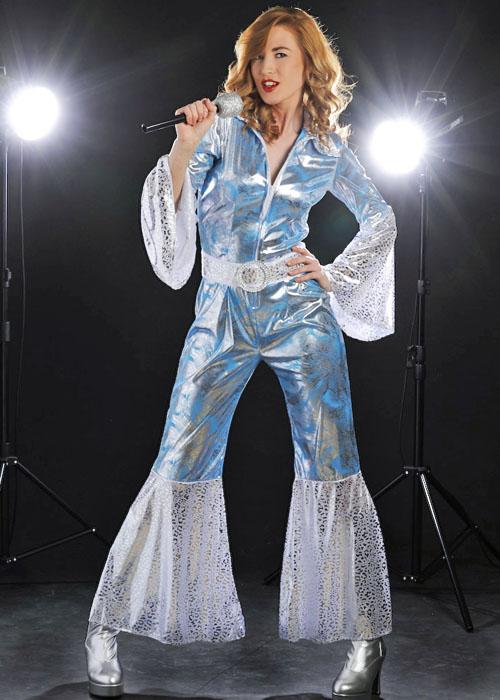 DANCING DISCO QUEEN FOR ABBA FANCY DRESS COSTUME 1970/'s WOMAN/'S