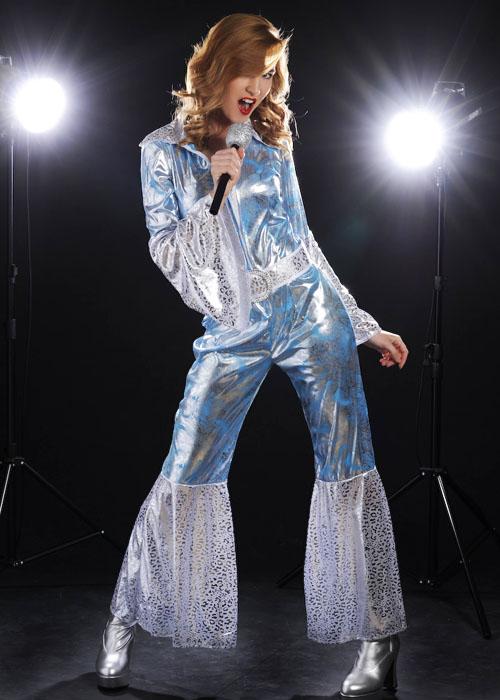 Ladies 70s Abba Style Waterloo Costume