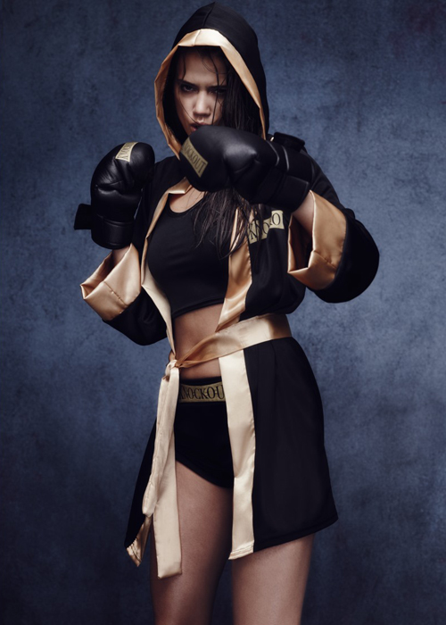 Womens Sexy Knockout Boxer Costume