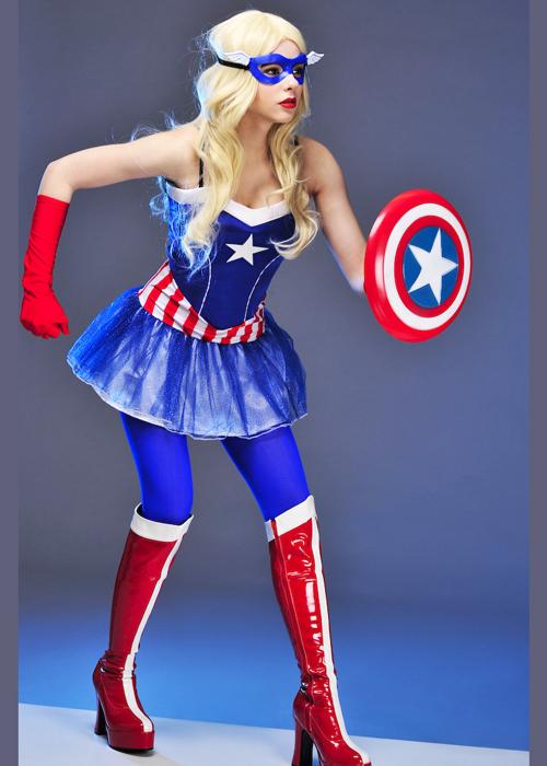 Womens Miss Captain America Tutu Costume