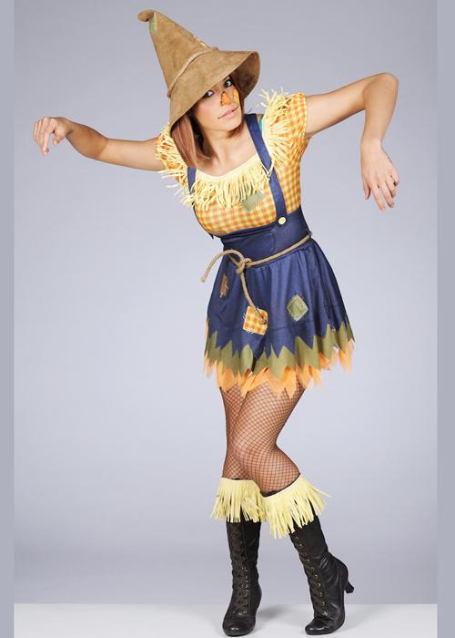 Adult Ladies Cute Scarecrow Costume