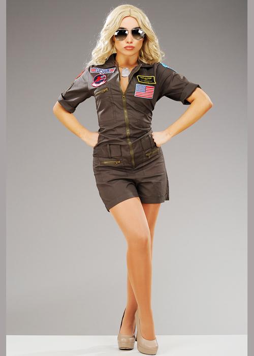 Top Gun Costume Adult Halloween Fancy Dress