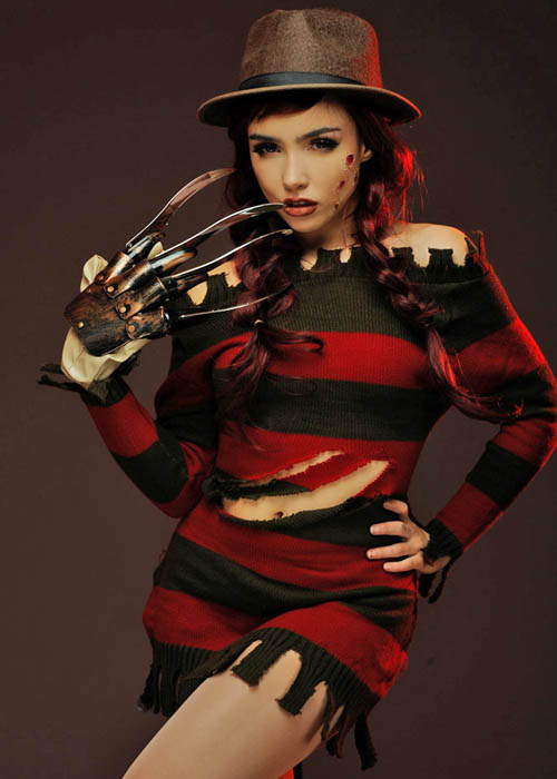 Womens Halloween Miss Freddy Krueger Costume