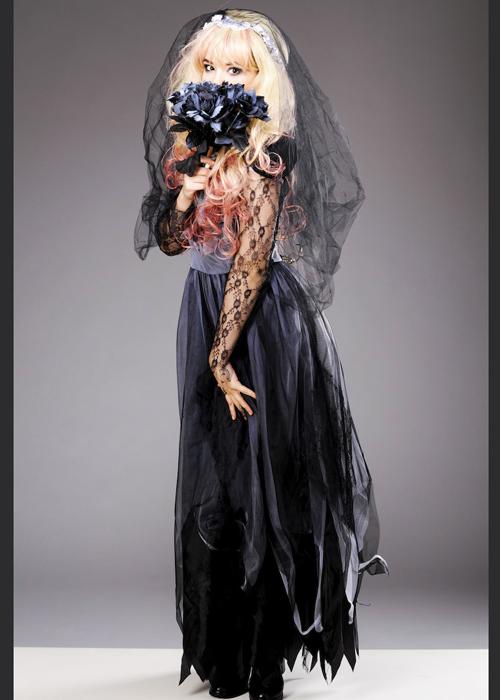 Womens Halloween Gothic Zombie Corpse Bride Costume
